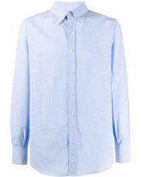 Brunello Cucinelli Рубашка С Воротником На Пуговицах - Синий