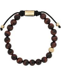 Northskull Tiger Eye beaded bracelet - Nero