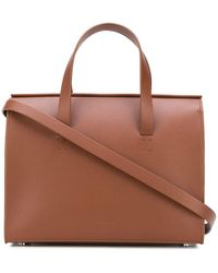 Aesther Ekme Mini Barrel Open Top Tote Bag - Brown