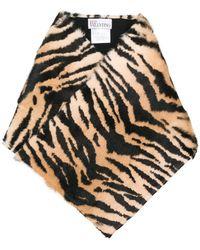 RED Valentino - Tiger Striped Scarf - Lyst
