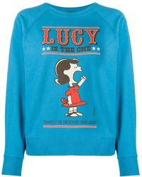 Marc Jacobs X Peanuts Lucy スウェットシャツ - ブルー