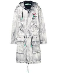 Off-White c/o Virgil Abloh Parka Exagerated - Gris