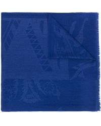 Etro Jacquard-detail Scarf - Blue