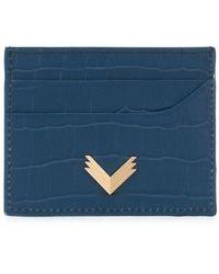 Manokhi カードケース - ブルー