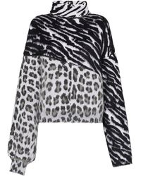 Unravel Project アニマルプリント セーター - ブラック