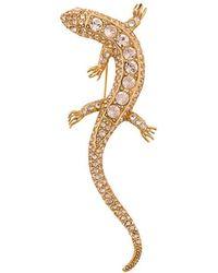 Oscar de la Renta - Lizard Brooch - Lyst
