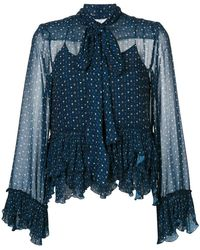 See By Chloé - Embroidered Frill Blouse - Lyst