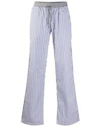 Dolce & Gabbana Striped Pajama Pants - White