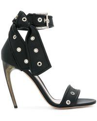 Alexander McQueen - Horn Heel Sandals - Lyst
