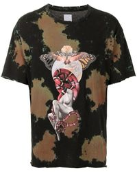 Alchemist Graphic-print Acid-wash T-shirt - Black