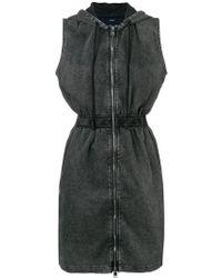 DIESEL - Hooded Denim Dress - Lyst
