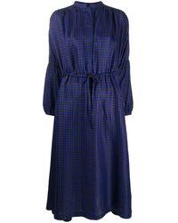 ODEEH Платье С Узором И Завязками - Черный