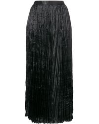 Junya Watanabe High-waist Pleated Skirt - Black