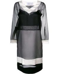 Gianluca Capannolo - Contrast Sheer Dress - Lyst
