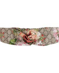 Gucci Blooms Print Silk Headband - Multicolour