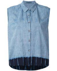 Suzusan - Denim Sleeveless Shirt - Lyst