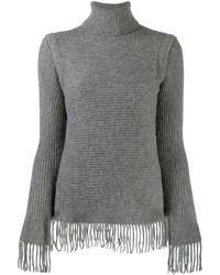 Paco Rabanne リブニット セーター - グレー
