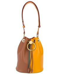 Marni Two-toned Circle Drawstring Bucket Bag - Yellow