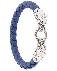 John Hardy Legends Naga Double Dragon Bracelet - Blue