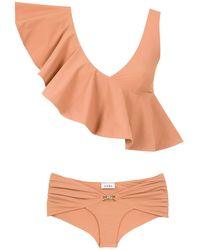 Amir Slama Ruffled Top Bikini Set - Meerkleurig