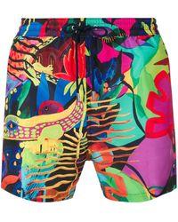 Paul Smith Плавательные Шорты С Тропическим Принтом - Черный