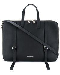 Alexander McQueen Grained Leather Briefcase