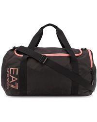EA7 ロゴ ボストンバッグ - ブラック