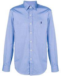 Polo Ralph Lauren Camisa con logo en contraste - Azul