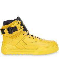 Fendi Высокие Кеды С Логотипом - Желтый
