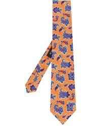 Etro Paisley Tie - Orange