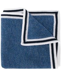 Canali Knitted Pocket Square - Blue