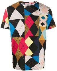 Pringle of Scotland パッチワーク Tシャツ - ブラック
