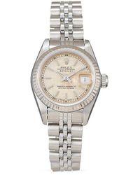 Rolex Orologio Lady-Datejust Pre-owned 1997 - Metallizzato