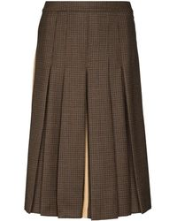 Maison Margiela Check Contrast Panelled Shorts - Brown