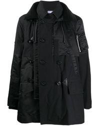 Sacai ダブル パーカーコート - ブラック