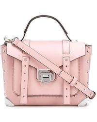 MICHAEL Michael Kors Manhattan Medium Leather Satchel - Pink