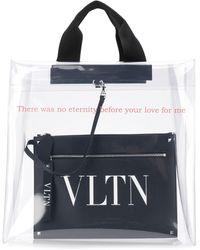 Valentino Bolso shopper con estampado VLTN Garavani - Blanco