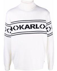 Karl Lagerfeld Wool Roll-neck Jumper - White