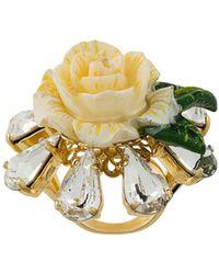 Dolce & Gabbana Кольцо В Форме Розы С Кристаллами - Многоцветный