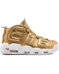Supreme X Nike Air More Uptempo Trainers - Metallic