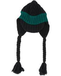 Marni Knitted Wool Beanie - Black