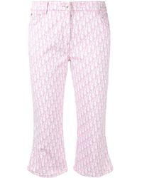 Dior Укороченные Джинсы С Узором Trotter - Розовый