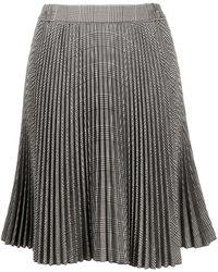 Styland チェック プリーツスカート - ブラック