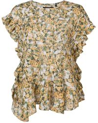 Isabel Marant Fliren floral print top - Giallo