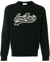AMI - Parisパッチ ファインリブ クルーネック セーター - Lyst