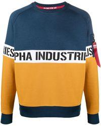 Alpha Industries バイカラー スウェットシャツ - ブルー