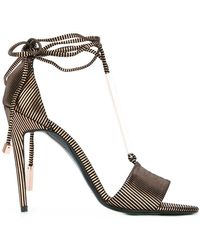 620a93fdaec Lyst - Rebecca Minkoff Lace Up Low Heel Sandals in Black