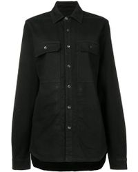 Rick Owens Drkshdw Oversized Denim Shirt - Black