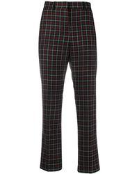 Paul Smith Pantalones capri con motivo de cuadros - Negro