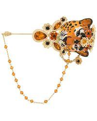 Dolce & Gabbana Декорированная Брошь В Форме Тигра - Многоцветный